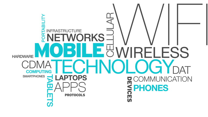 Mobile Technology Word Cloud Animation   Shutterstock HD Video #3777251