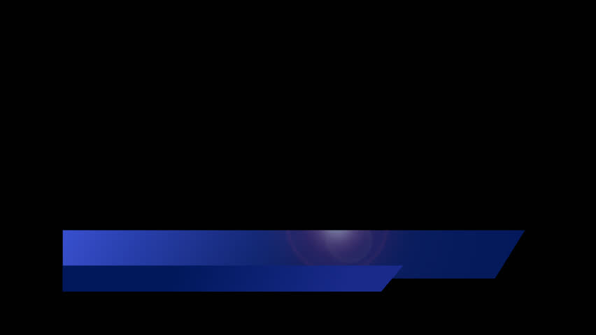 Animated Lower Third Title Strap - Documentary / News Effects - Blue 2 HD