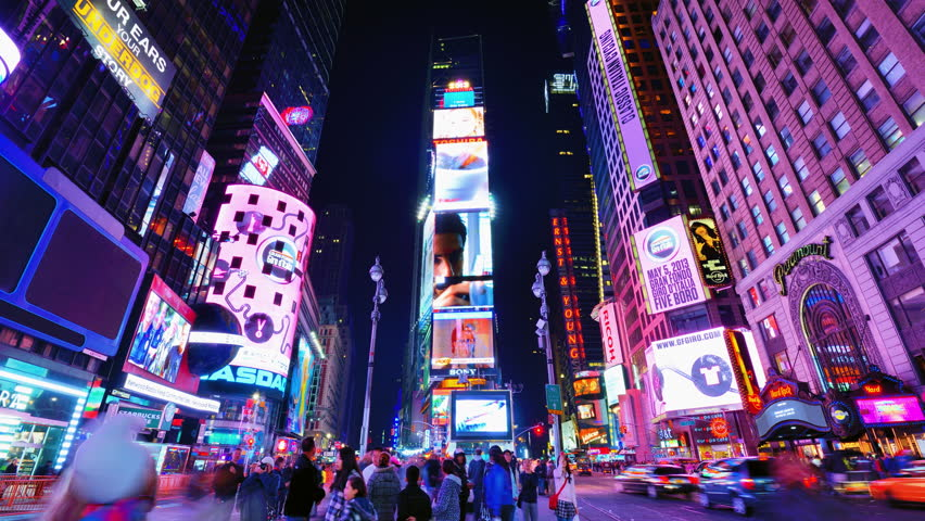NEW YORK CITY - APRIL 13: New York City's Times Square April 13, 2013 in New York, NY. With over 39 million visitors annually, it is one of the most visited tourist attractions in the world. | Shutterstock HD Video #3780908