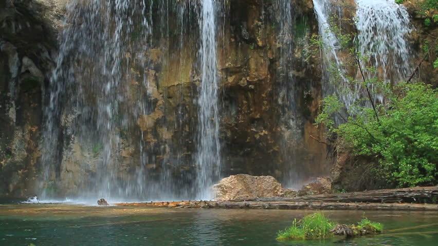 Beautiful waterfall in true slow motion. HD 720p 24fps.