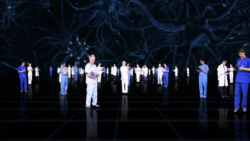 3D montage fly through medical healthcare professionals accessing patient records using modern wireless technology | Shutterstock HD Video #3787190