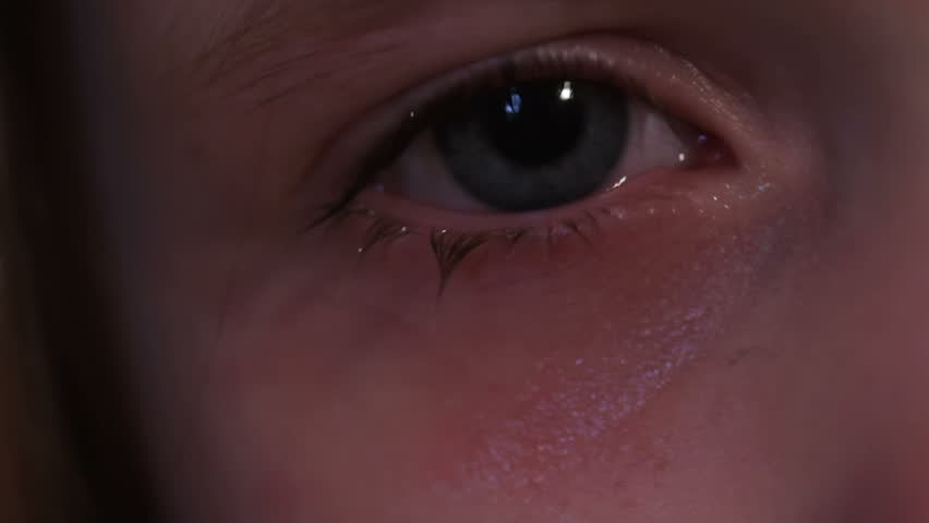 Tears - A child's eyes running with tears | Shutterstock HD Video #3787613