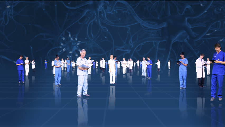 3D fly through montage of medical healthcare professionals using modern wireless technology | Shutterstock HD Video #3788081