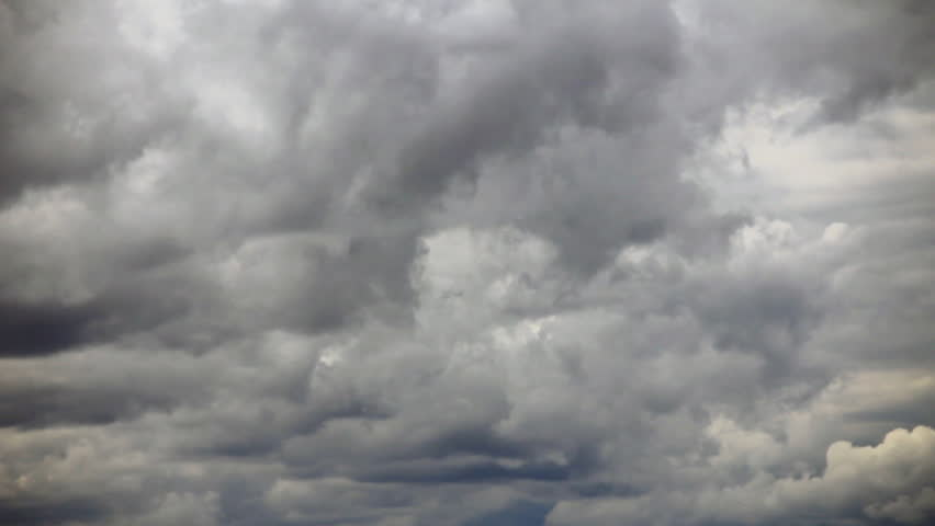 Overcast Clouds Transforming Time Stock Footage Video (100