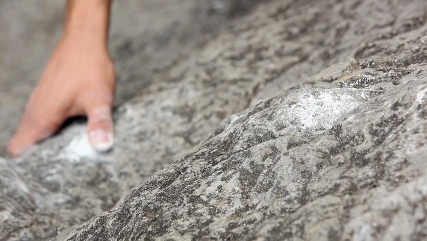 Close up of hands of a man rock climbing | Shutterstock HD Video #3824975