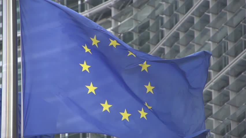 EU flag  slow motion | Shutterstock HD Video #3825833