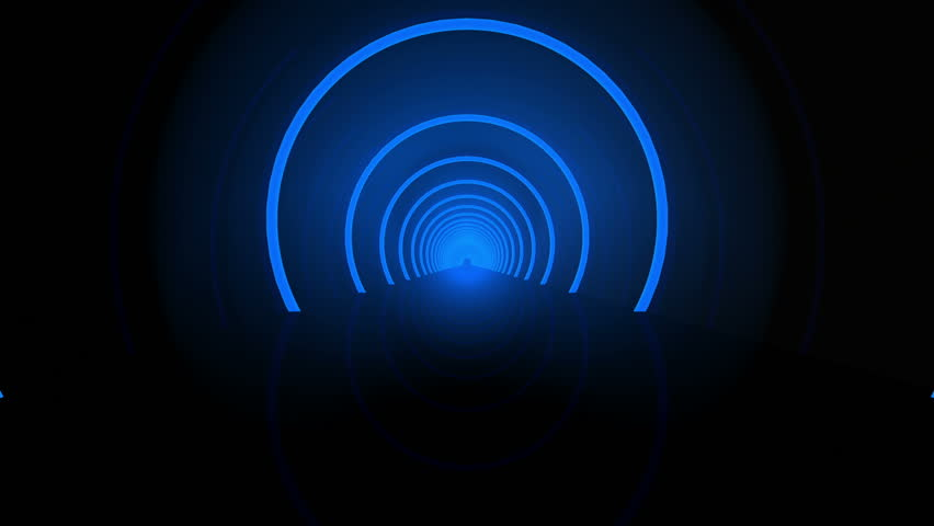 Futuristic Tunnel 3D animation | Shutterstock HD Video #3830936