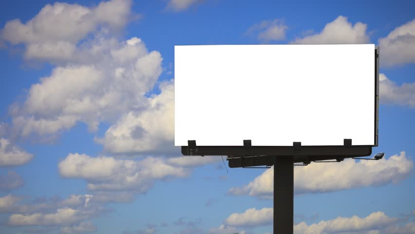 blank Billboard with Cloud Time lapse with mask in part 2/2