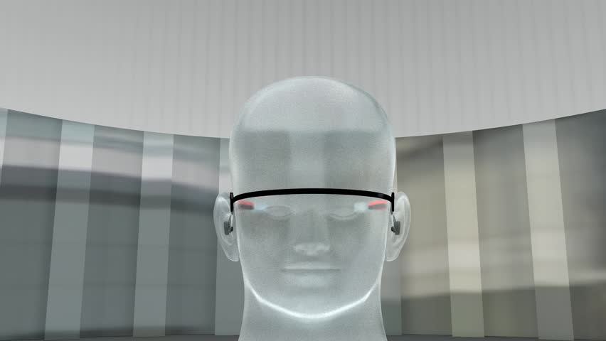 Augmented reality device. | Shutterstock HD Video #3857732