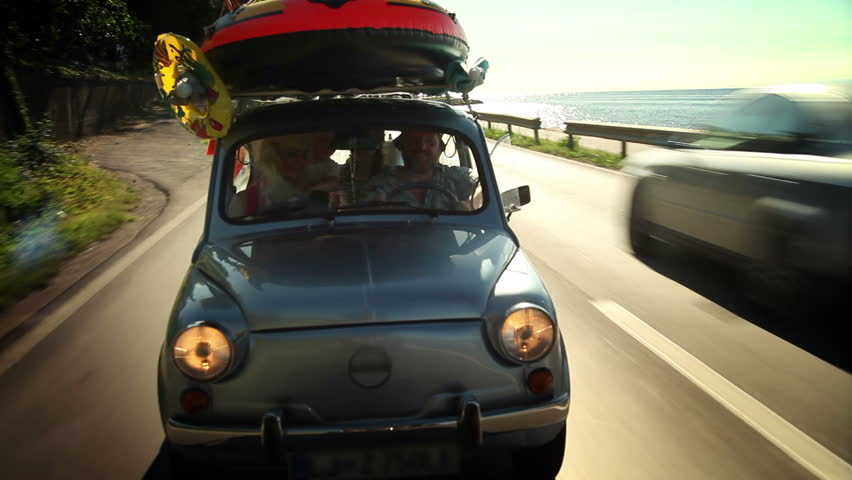 Family on their way to summer holiday | Shutterstock HD Video #3867593