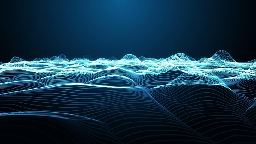 Virtual Wireframe Landscape Flight Simulation Loop