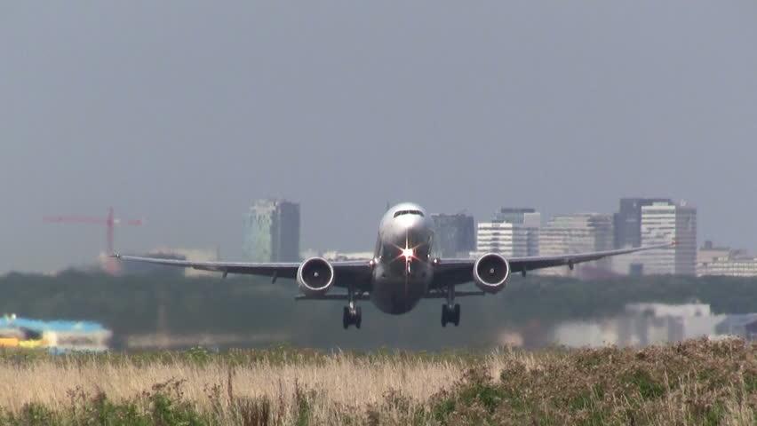 Huge airliner taking off