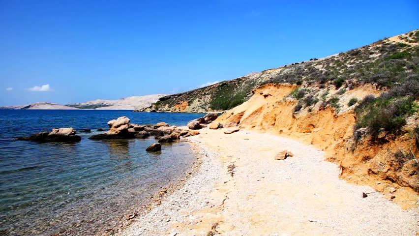 Tranquil sea Pag Croatia, Adriatic Mediterranean Sea, Dalmatia