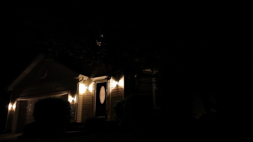 Suburban Home.  Night.