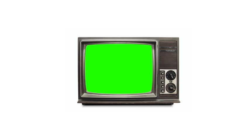 TV screen with green screen #3884834