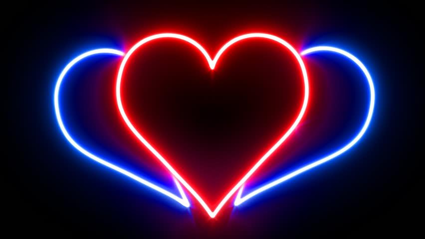 Светящиеся картинки сердечки