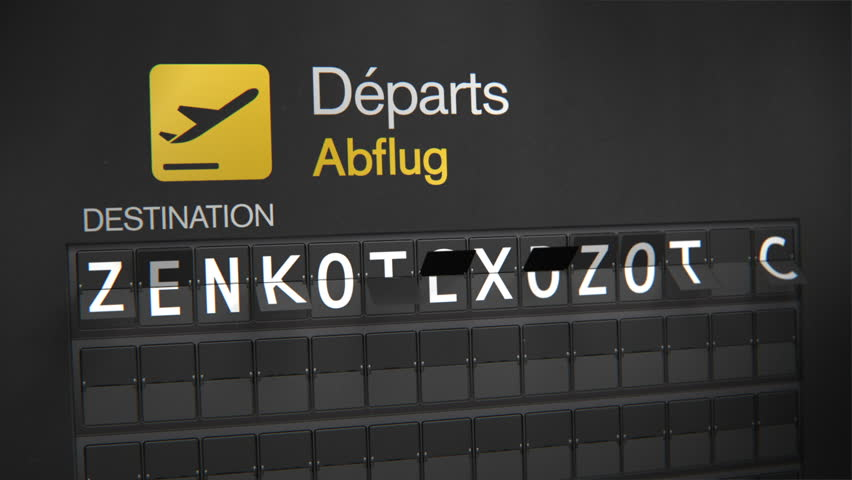 Departures Flip Sign: European cities - Frankfurt