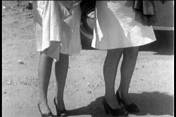 1930s - A 1930s Stag Film Depicts Two Strippers