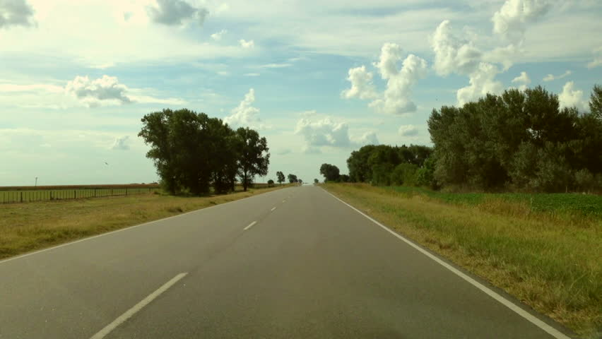 Driving a Car on a Country Road - POV - Point of view front - windshield. Day. | Shutterstock HD Video #3914978