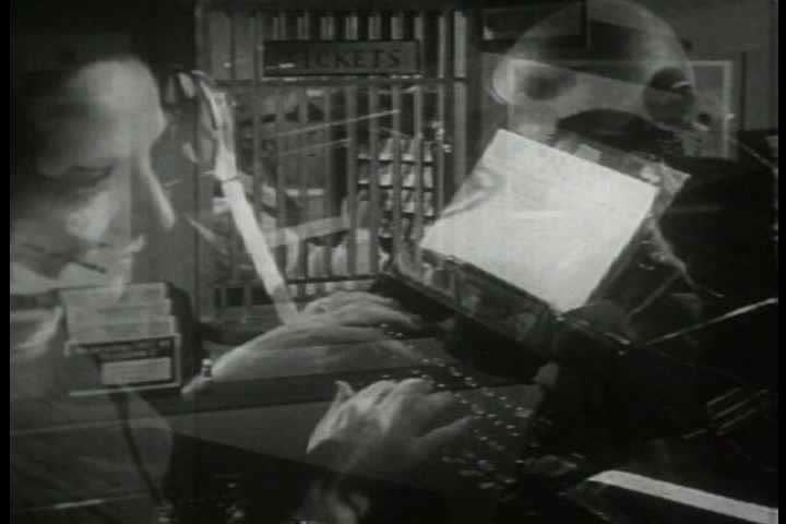 1940s - Archival film describing the different ways users can access the Western Union telegraph service. | Shutterstock HD Video #3930803
