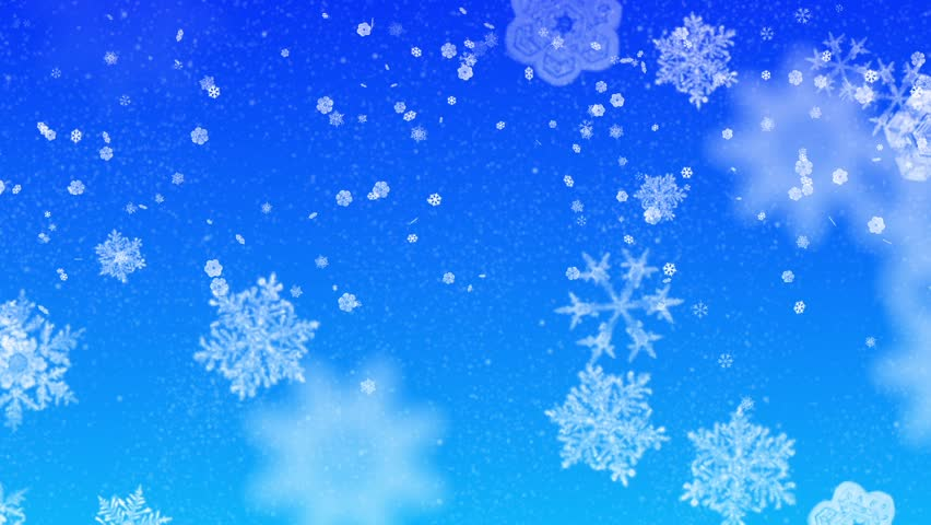 Abstract snowflakes on blue background | Shutterstock HD Video #3933221