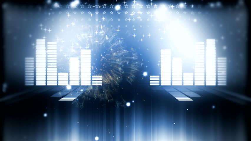 Led Colorful Fractal dance floor several shining Sound waves loop Dance lines  light Rainbow spectrum color Disco dancing electronic music background Circle audio equalizer Floodligh bulb spectrum box #3934748