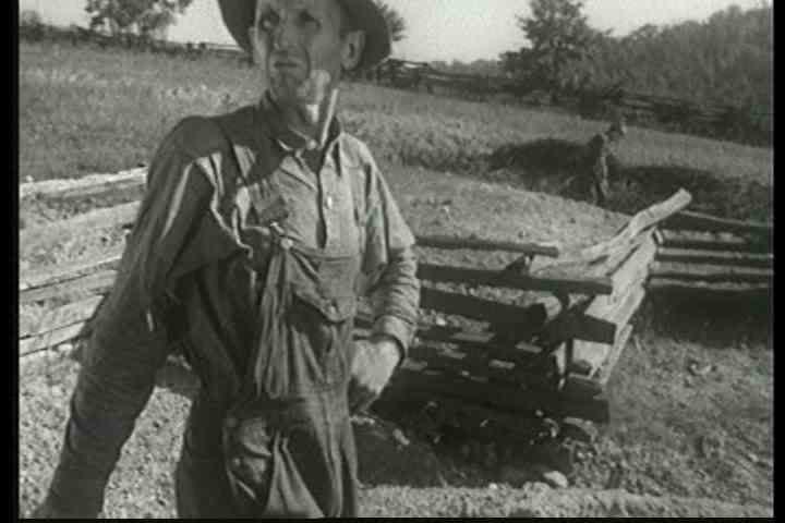 1940s - Good footage of poor Tennessee and Southern farmers in rural America in the 1930s.