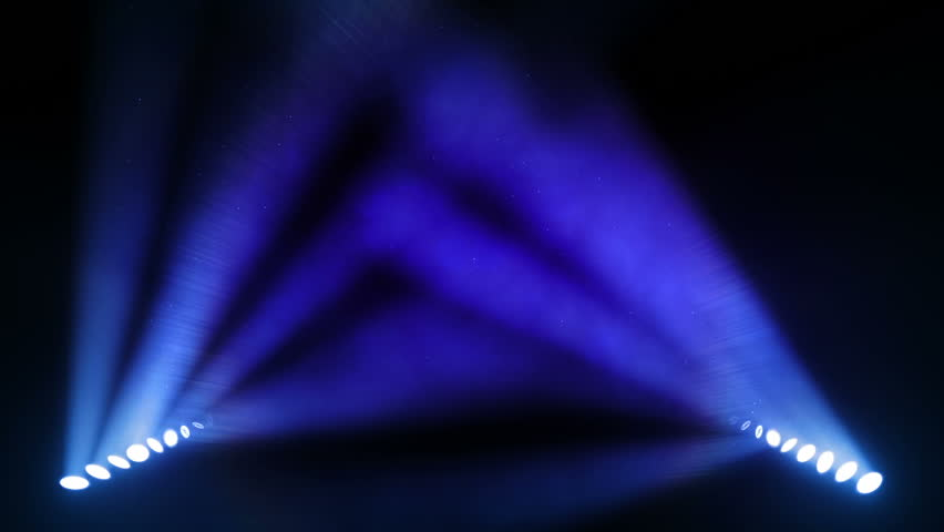 Bright stage lights flashing. Blue. SEE MORE OPTIONS IN MY PORTFOLIO.