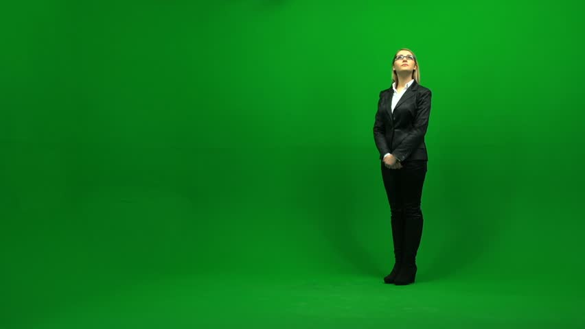 Isolated blond women against green screen. businesswomen. female person people. | Shutterstock HD Video #3954299