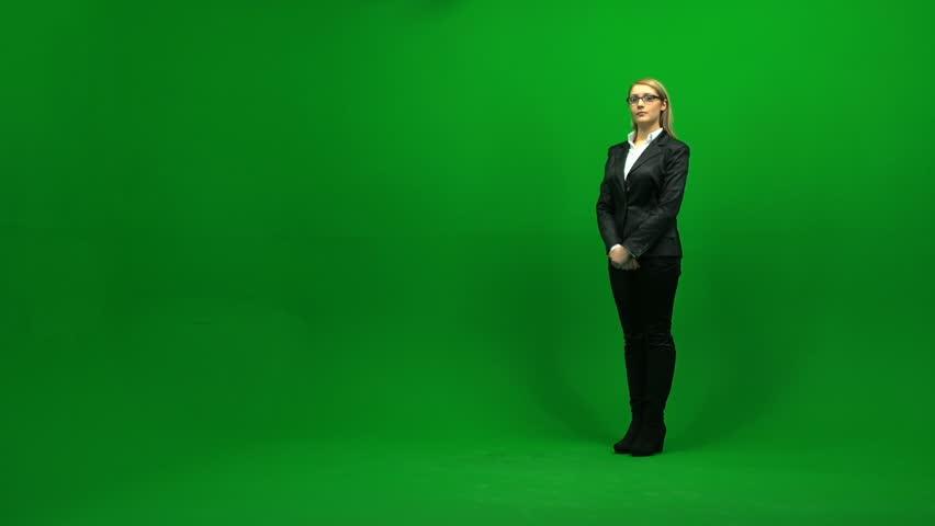 Portrait of business women against green screen 1080 | Shutterstock HD Video #3954353