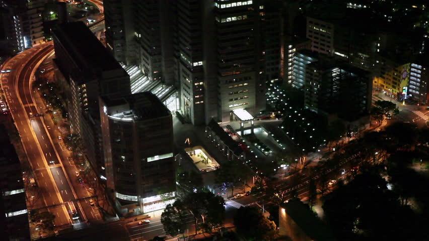 Shinjuku district night top view from Tokyo Metropolitan Government Building, Japan at night | Shutterstock HD Video #3956774