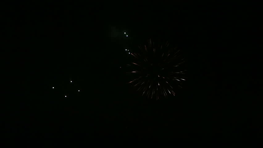 Beautiful fireworks in the night sky. #3960742