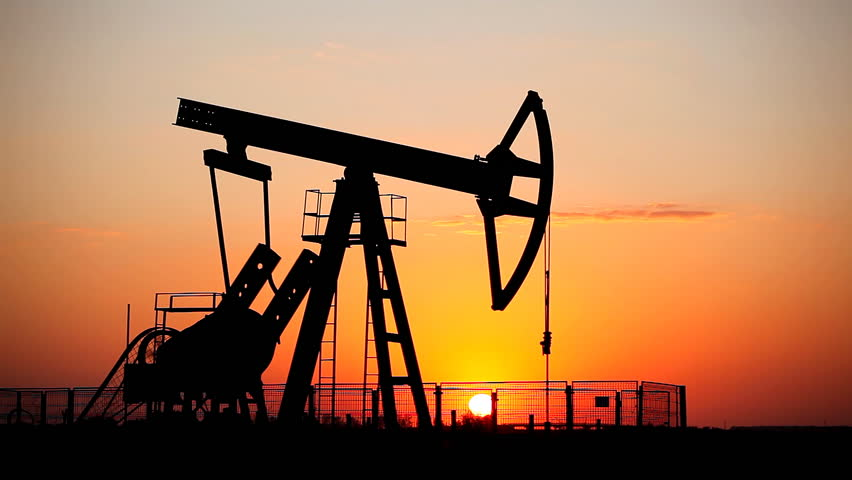 Fossil Fuel Energy, Oil Pump, Pumpjack, Old Pumping Unit, Jack Pump, Sunset