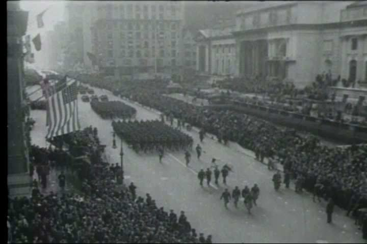 1960s - World War II ends and the world celebrates as soldiers are welcomed home.