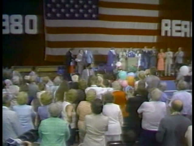 1980s - Ronald Reagan runs for President in 1980.