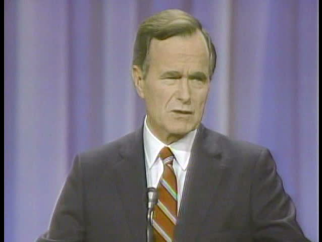 1980s - George H W Bush wins the presidential nomination in 1989.