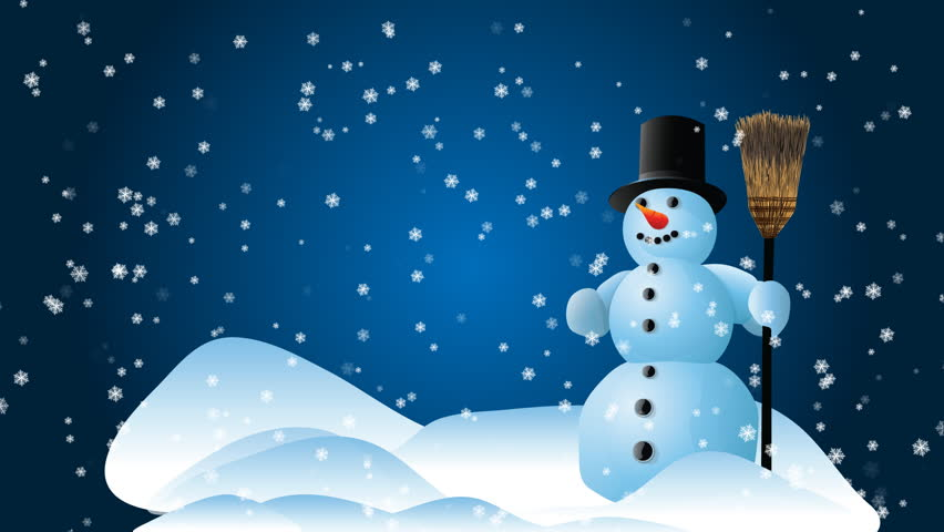 Snow Man With A Blue Stock Footage Video 100 Royalty Free 399847 Shutterstock