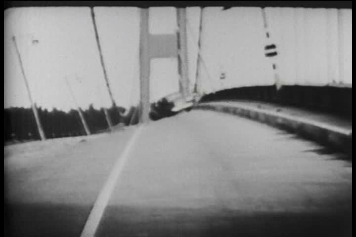 1940s - November 7, 1940 Tacoma Narrows bridge collapse.