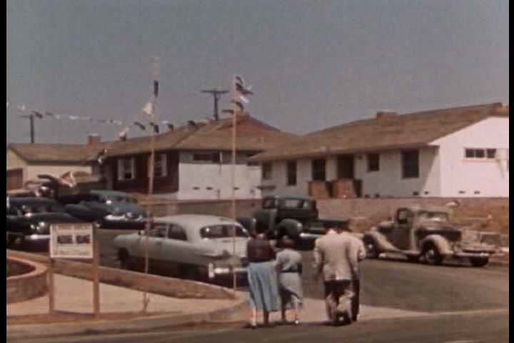 1950s - All kinds of asbestos tract homes are built around America in the 1950s.
