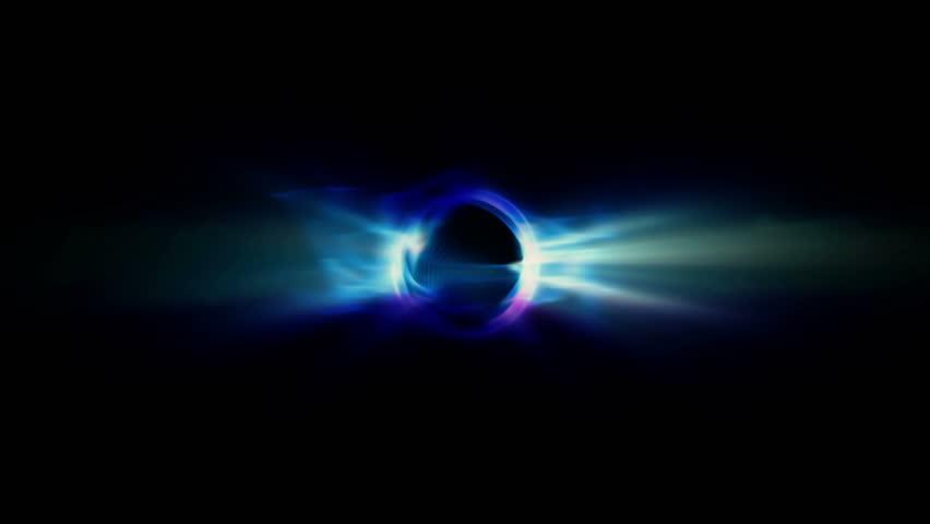 HD - An event horizon shoots light (Loop). #4030390