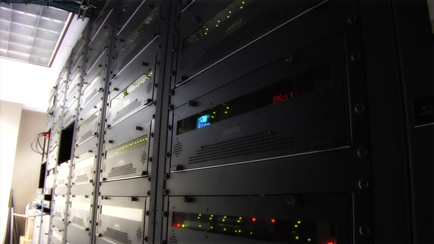 This high definition footage is of a server room