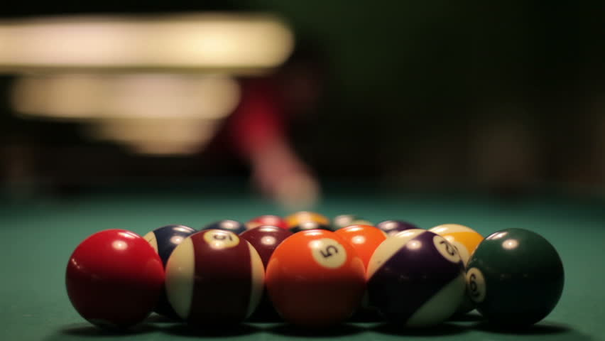 Pool Spread On Billiards Table Stock Footage 100 Royalty Free 4032535 Shutterstock - How To Mark Out A Pool Table