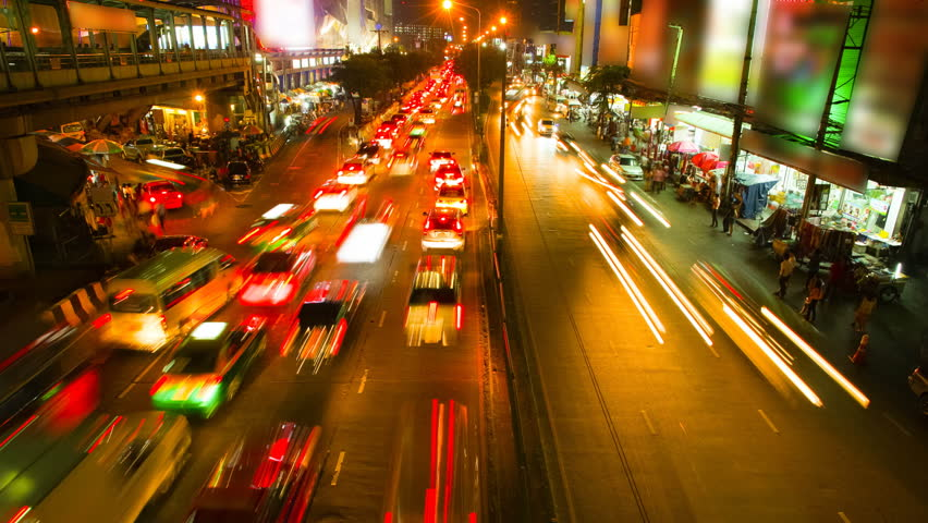 Traffic Time lapse in Bangkok, Thailand | Shutterstock HD Video #4039831