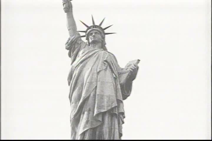 1910s - Statue of Liberty, 1919, Lincoln statues, and Mt. Vernon. | Shutterstock HD Video #4053874