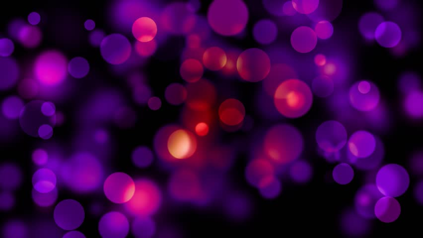Abstract Motion Background - Purple Bokeh