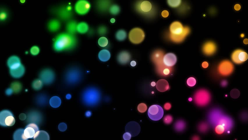 Abstract Motion Background - Rainbow Bokeh