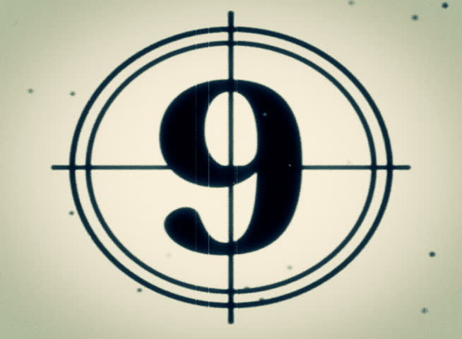 PAL - Motion 897: Retro film leader countdown.