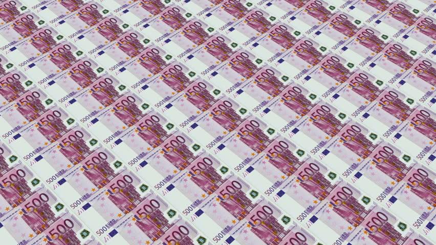 500 euro bills,Printing Money Animation. | Shutterstock HD Video #4075459