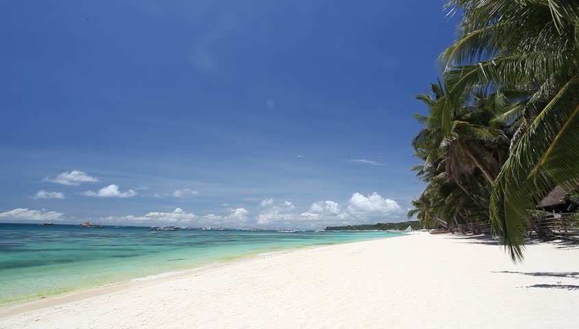 Tropical coastline with white sand, Philippines, Boracay     Shutterstock HD Video #4078567