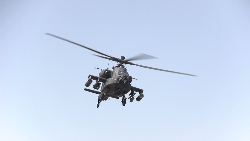 Apache helicopter up close